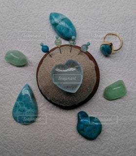 天然石まち針ターコイズブルーの写真・画像素材[2243816]