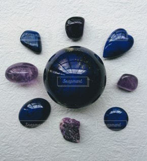 ブルーと紫の写真・画像素材[2252225]