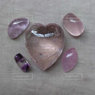 ピンク,紫,ハート,天然石,ストーン,クリスタル,アメジスト,モルガナイト,ヴァイオレット