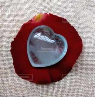 ハートの水滴の写真・画像素材[2307204]