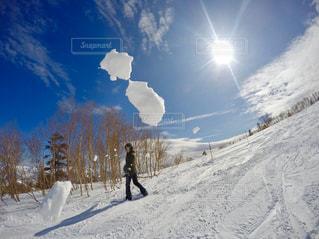雪と空、時々雪の写真・画像素材[2945692]