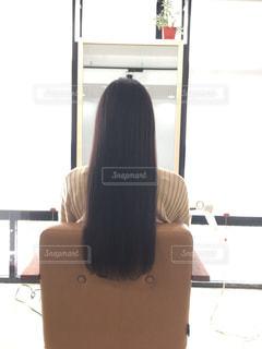 黒髪ロングの写真・画像素材[1035592]