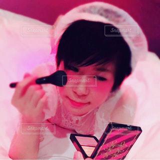 女性,ピンク,メイク,mac,美容,コスメ,化粧品,ベッド,フェイスカラー