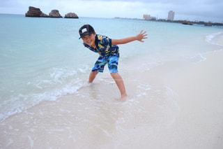 だれもいない台風明けの沖縄の写真・画像素材[1390244]