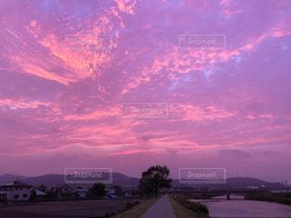 空,夕日,カラフル,夕焼け,夕暮れ,景色,鮮やか,旅行,静岡,フォトジェニック