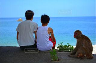 男性 子供 後ろ姿の写真・画像素材[1028707]
