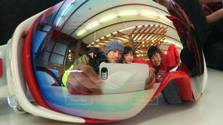 スキー場でひと休みの写真・画像素材[1028893]