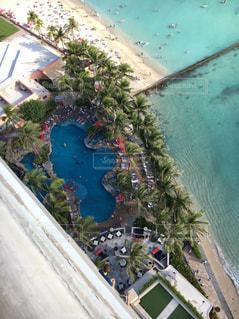 上空からのプールの写真・画像素材[1036931]