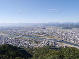 金華山山頂から見た岐阜市の写真・画像素材[1398270]