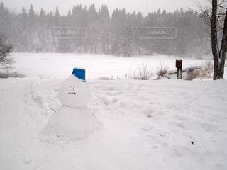 雪だるま作りの写真・画像素材[1685621]