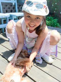 犬と遊び女の子 - No.1041714