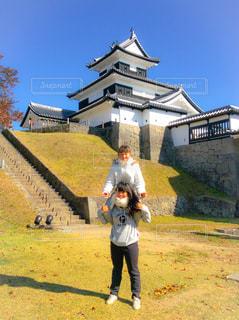 福島県のお城の写真・画像素材[1046571]