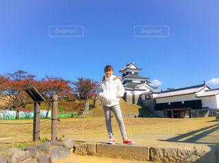 福島県のお城の写真・画像素材[1046599]