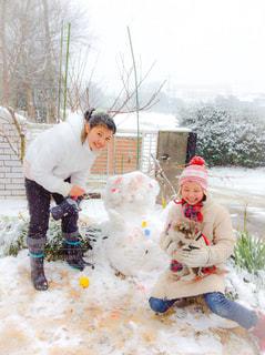 雪遊びの写真・画像素材[1051407]