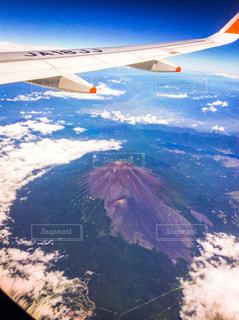 上空からの富士山の写真・画像素材[1052045]