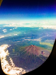 上空からの富士山の写真・画像素材[1052046]
