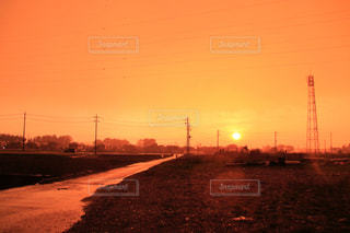 空,夕日,太陽,鉄塔,オレンジ,癒し,夕陽,栃木県,染まる,夕日コンテスト