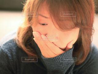 悲しい顔コンテストの写真・画像素材[1816435]