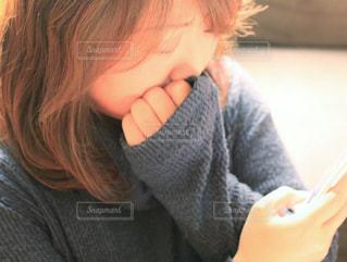 悲しい顔コンテストの写真・画像素材[1816465]