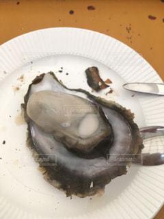 糸島の焼き牡蠣の写真・画像素材[1053626]