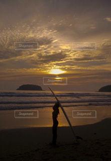 プーケットの夕日の写真・画像素材[1295760]