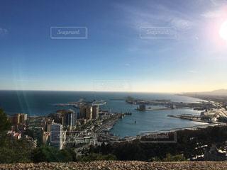 お城から地中海を臨むの写真・画像素材[1036567]