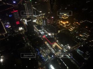 台北101展望台にての写真・画像素材[1037646]