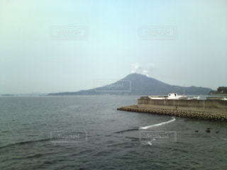 大隅半島からの桜島の写真・画像素材[1051342]
