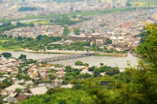 嵐山山頂からの渡月橋の写真・画像素材[1041492]