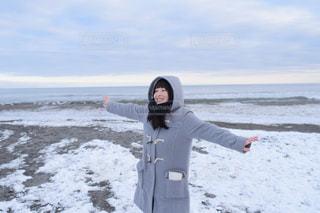 雪と海のコラボレーションの写真・画像素材[1778642]