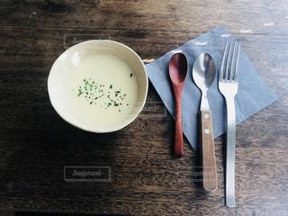 カフェのスープの写真・画像素材[1036980]