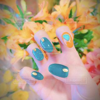 Selfie★Spring Nailsの写真・画像素材[2045025]