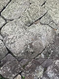 会津鶴ヶ城の石垣のどこか‼︎の写真・画像素材[1129955]