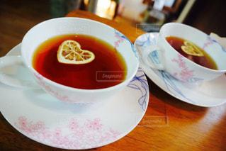 食品とコーヒーのカップのプレート - No.1121166