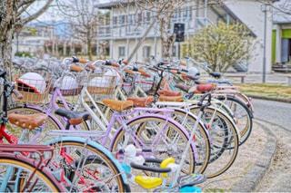 カラフル自転車の写真・画像素材[1138870]