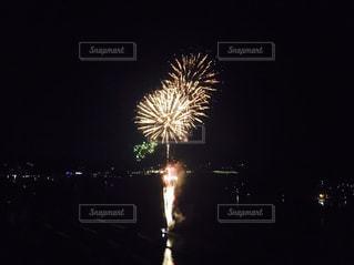 夜空の花火の写真・画像素材[1040602]