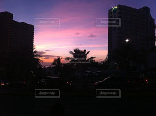 南国の夕暮れ時の写真・画像素材[1037739]