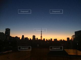東京の夜明けの写真・画像素材[1041344]