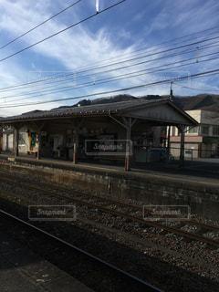 駅と青空の写真・画像素材[1107998]