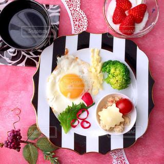 フランフランのプレート 朝食の写真・画像素材[1056426]