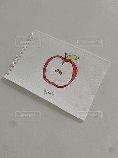 りんごのスケッチの写真・画像素材[3302372]