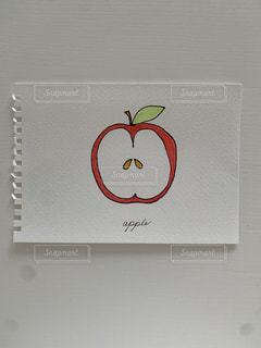 りんごの断面!簡単スケッチの写真・画像素材[3302377]