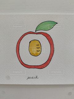 桃の断面の写真・画像素材[3302426]
