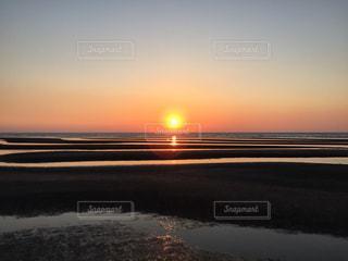 真玉海岸の夕日の写真・画像素材[1038944]