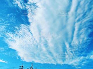自然,空,雲,青空,青,景色,ハート