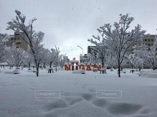 雪に埋もれるモニュメントの写真・画像素材[1793069]