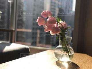 花,屋内,テーブル,クリア