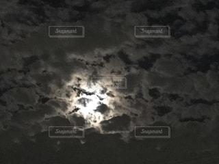 自然,秋,夜空,屋外,季節,秋空,お月様,おぼろ月夜