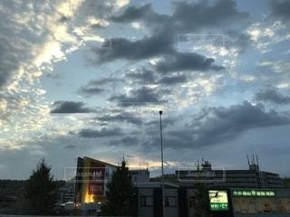 屋外,夕方,季節,うろこ雲,秋空