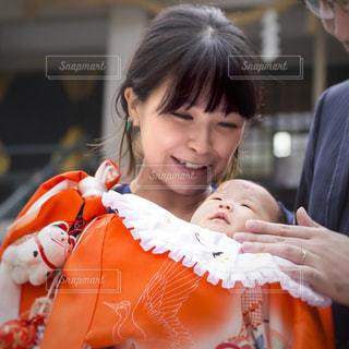 赤ちゃん,母,お宮参り